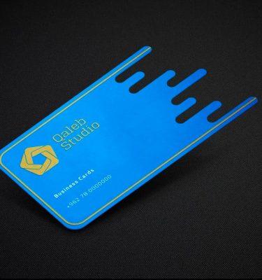 Blue Die Cut Business Cards | Luxury Printing