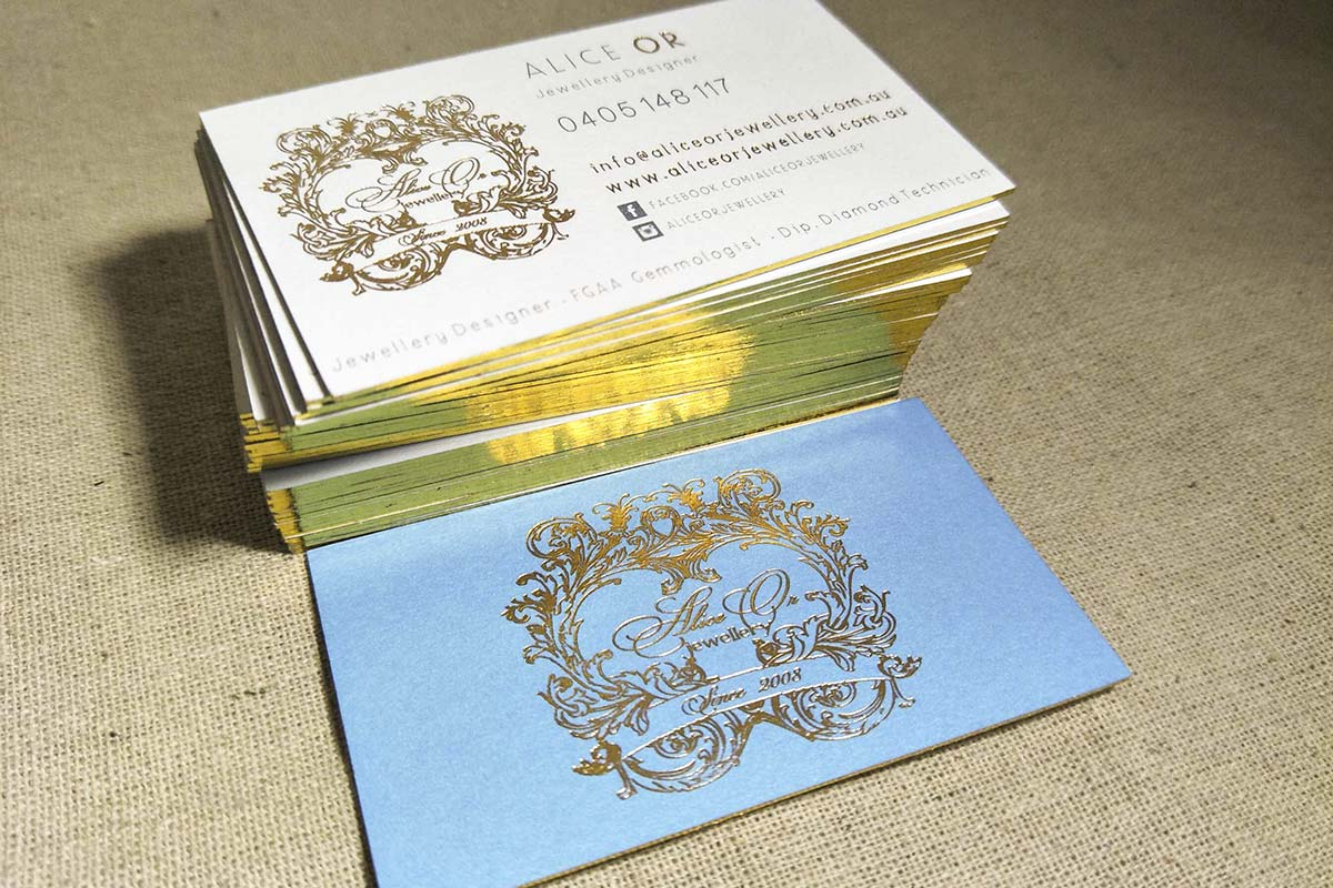 Edge Painted Business Cards | Printed by Luxury Printing