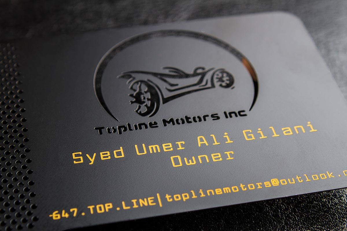 Spot Color Metal Business Card